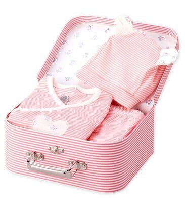 Petit Bateau 3 piece baby set in Pink