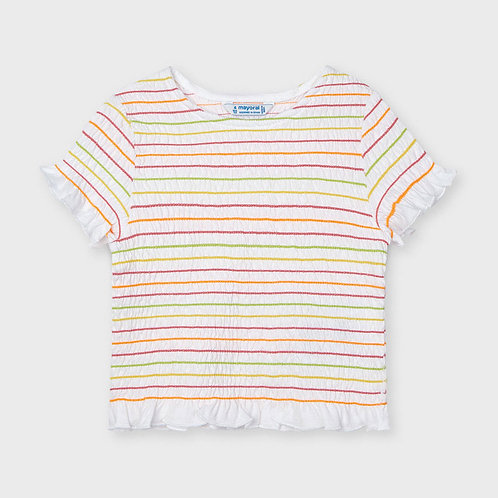 Mayoral Ruched t-shirt for girls