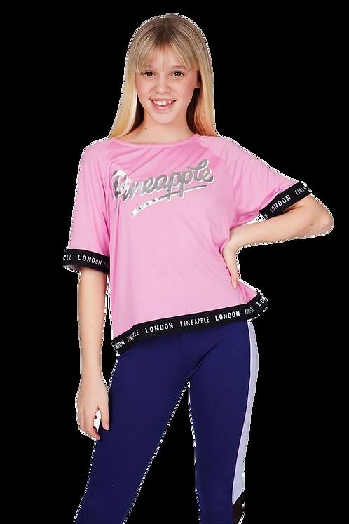 Pineapple dance wear Girls Jacquard T-Shirt in pink
