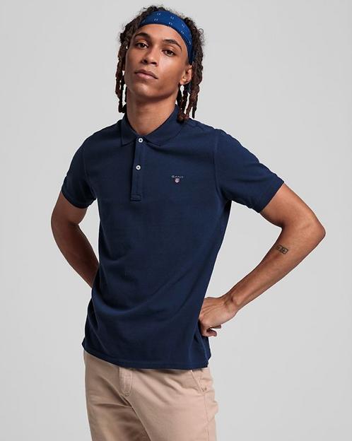 GANT Boys Original Piqué Polo Shirt-Navy