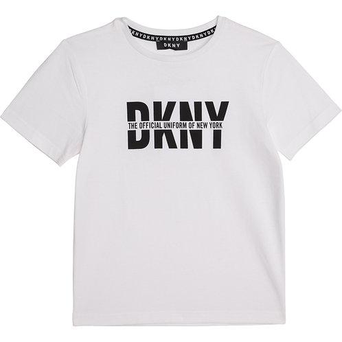 DKNY Boys Organic White T-Shirt