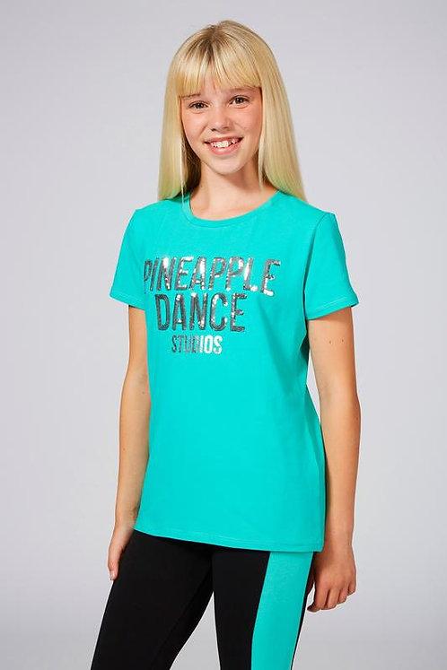 Pineapple Dance Girls Pineapple Sequin T-Shirt