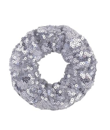 Silver Coloured Girls Sequin Scrunchie