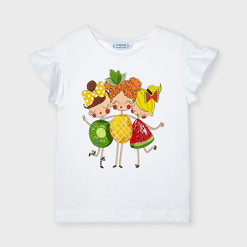 Mayoral ECOFRIENDS t-shirt for girl in White