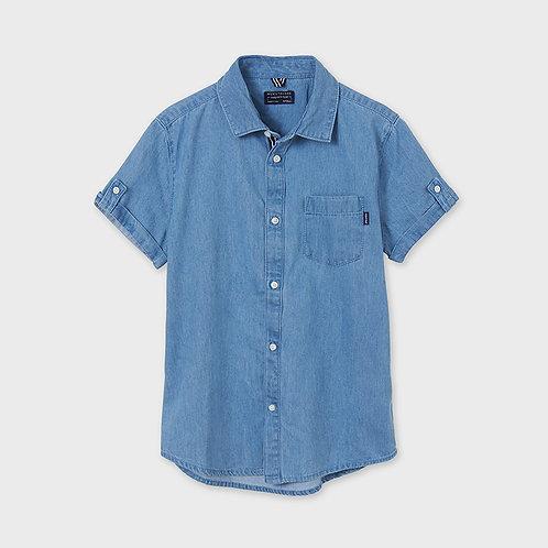 Mayoral Short sleeved denim t-shirt Denim