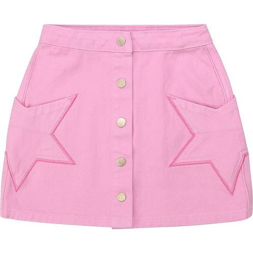 BILLIEBLUSH Adjustable-waist drill skirt