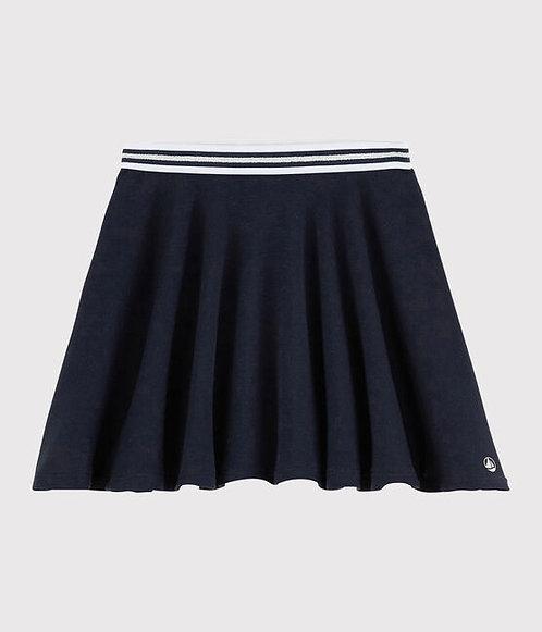 Petit Bateau-Girls' Knit Skirt in Navy