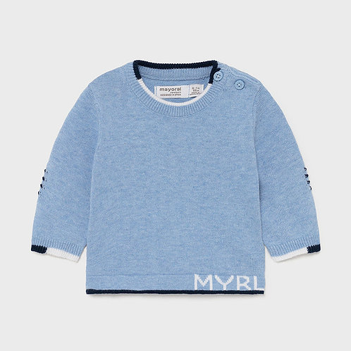 Mayoral Knit sweater light blue