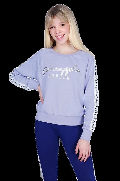 Pineapple Dancewear Girls Jacquard Sweatshirt in Lilac