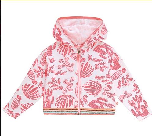 BILLIEBLUSH pink towelling zip up hoodie