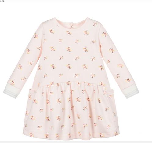 Petit Bateau-Pink Floral Jersey Dress