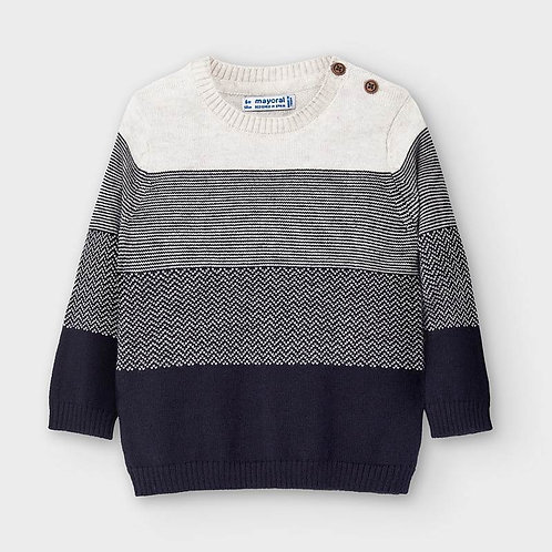 Mayoral Boys Striped sweater in Piñon