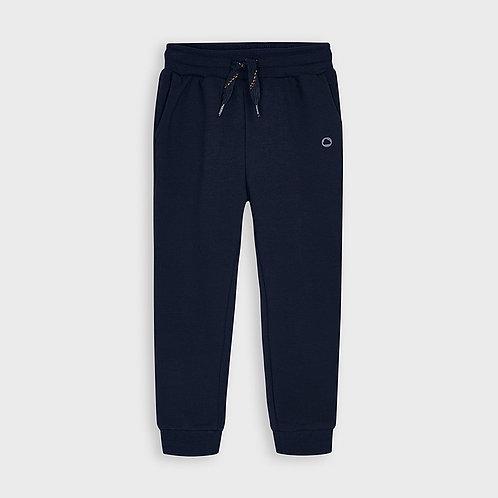 Mayoral Boys Basic cuffed fleece trousers in Navy