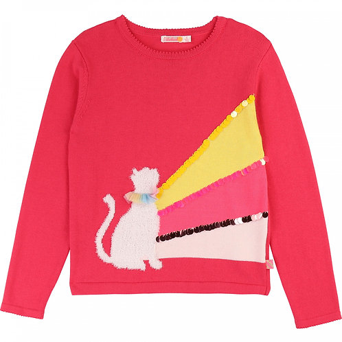 BILLIEBLUSH Novelty tricot jumper Pink