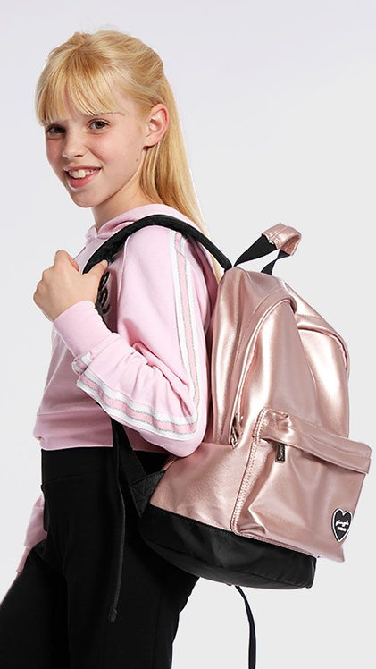 PINEAPPLE  DANCEWEAR HEART BADGE RUCKSACK ROSE PINK