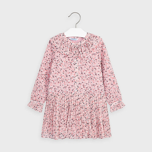 Mayoral Girls Heart chiffon dress in Blush