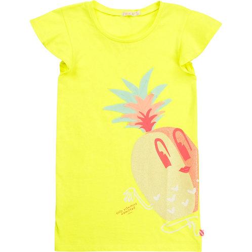 Billieblush short sleeved yellow Jersey dress
