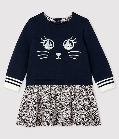 Petit Bateau Baby girl's long-sleeved dress