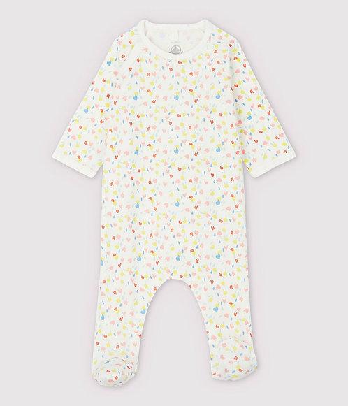 Petit Bateau-Babies' Floral Organic Cotton Sleepsuit