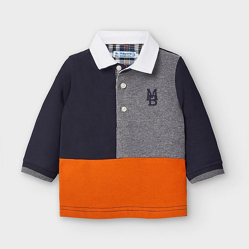 Mayoral Boys L/s Polo in Brg Cement