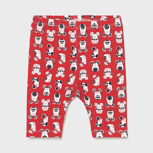 Mayoral ECOFRIENDS print leggings for baby girl-mouse print