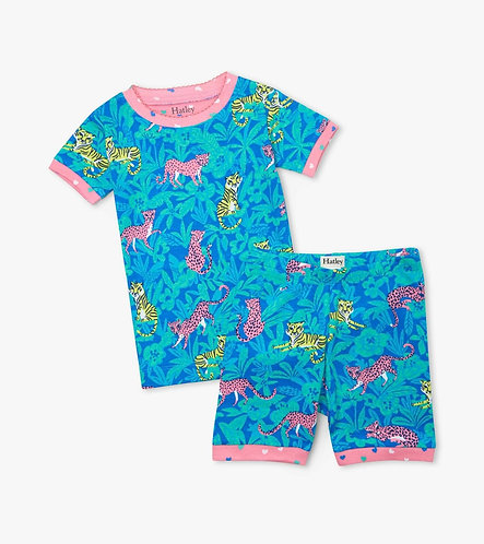 Hatley Jungle Cats Organic Cotton Short Pyjama Set