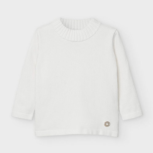 Mayoral Girls Basic Knitted Top in Natural