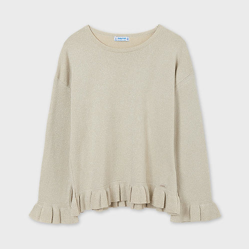 Mayoral Frills sweater Beige Lure
