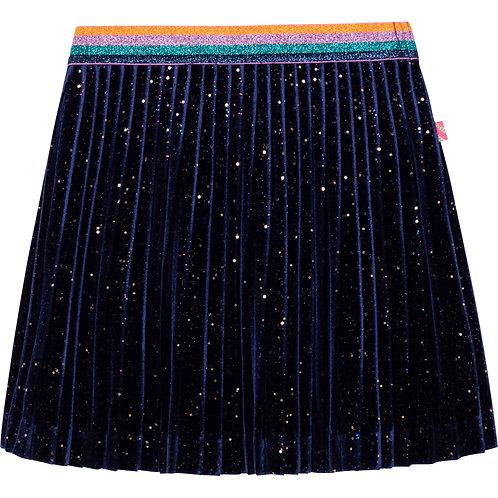 Billieblush Velvet Sequin Skirt