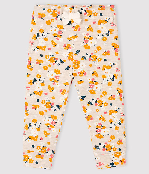 Petit Bateau Baby girl's tubular knit trousers