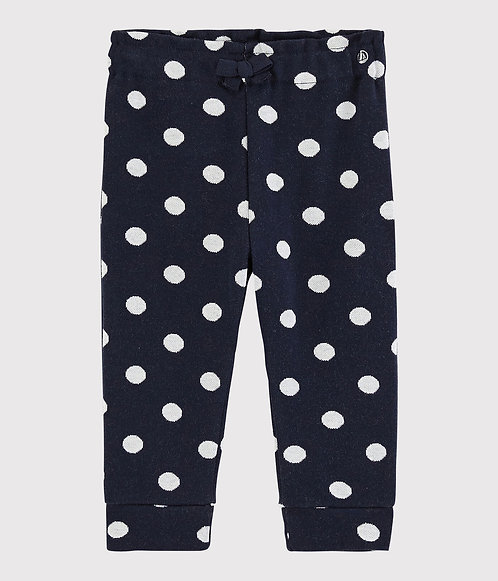 Petit Bateau Baby girl's spotty trousers