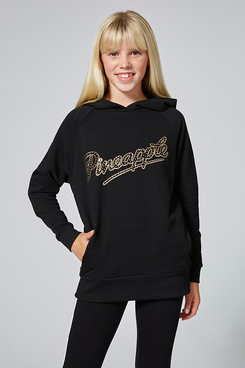 Pineapple Dancewear Gold Stud Oversized Black Hoodie
