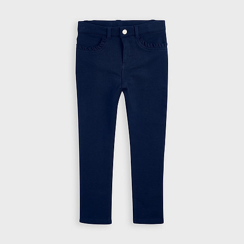 Mayoral Girls Fleece basic trousers in Navy