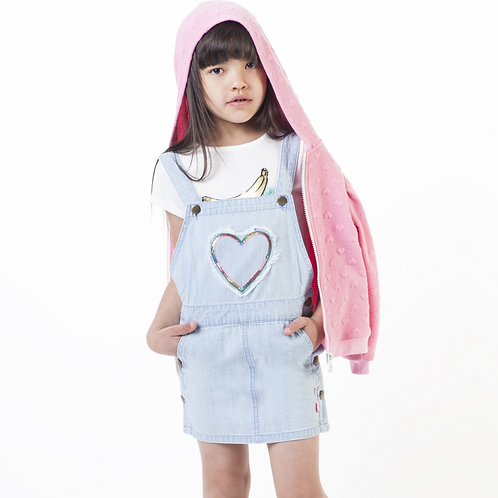 Billieblush -denim pinafore dress