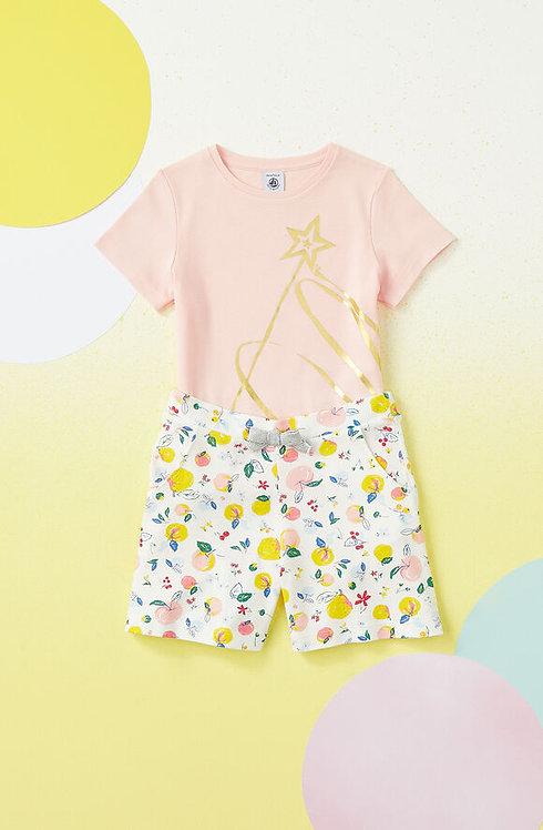 Petit Bateau -Girl's Cotton Shorts