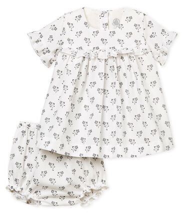 Petit Bateau Baby girls' printed dress and bloomers