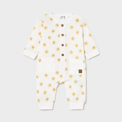Mayoral long onesie without footie Lemon-Unisex