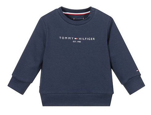 Tommy Hilfiger Blue Organic Cotton Sweatshirt