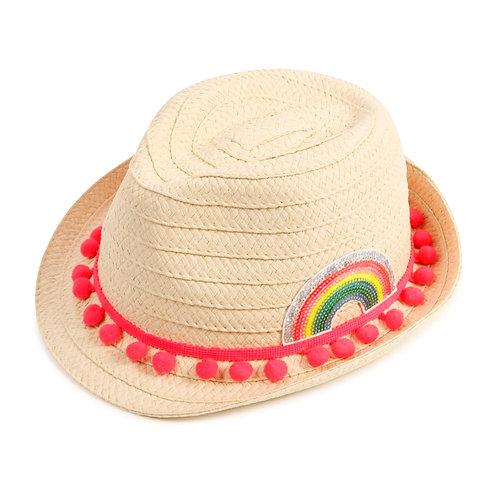 Billieblush Girls Sequin Straw Hat