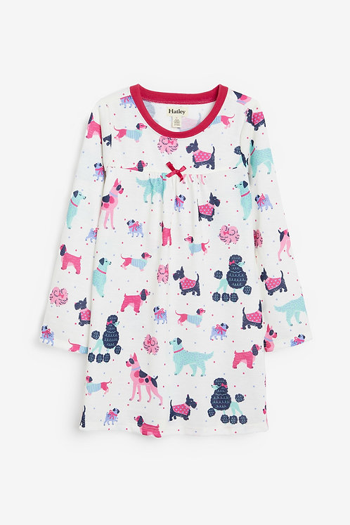 Hatley Colorful Pups Long Sleeve Nightdress