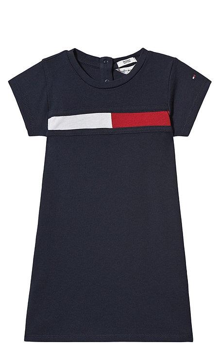 Tommy Hilfiger Navy Flag Logo Jersey Dress