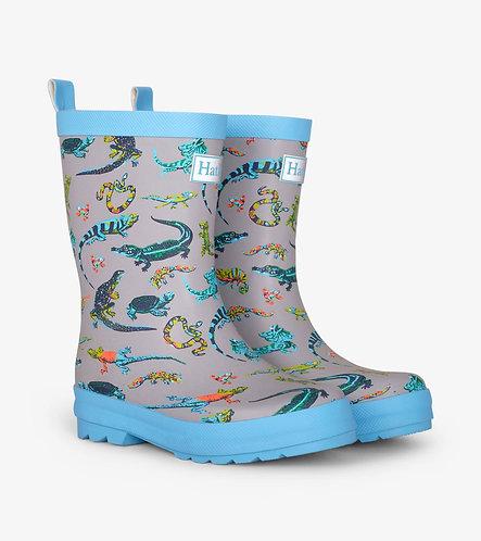 Rambunctious Reptiles Matte Rain Boots