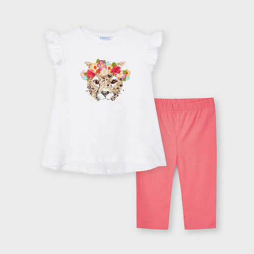 Mayoral legging & top set with sequins in Coral