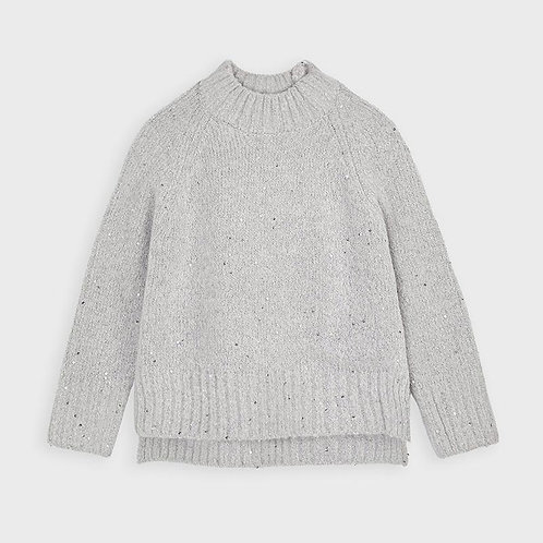 Mayoral Girls Sequins sweater in Steel