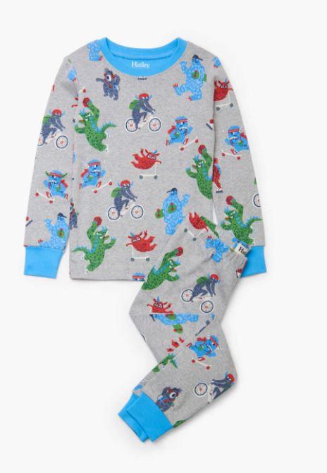 Hatley Back To School Monsters Organic Cotton Pajama Set