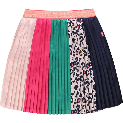 BILLIEBLUSH Pleated striped satin skirt