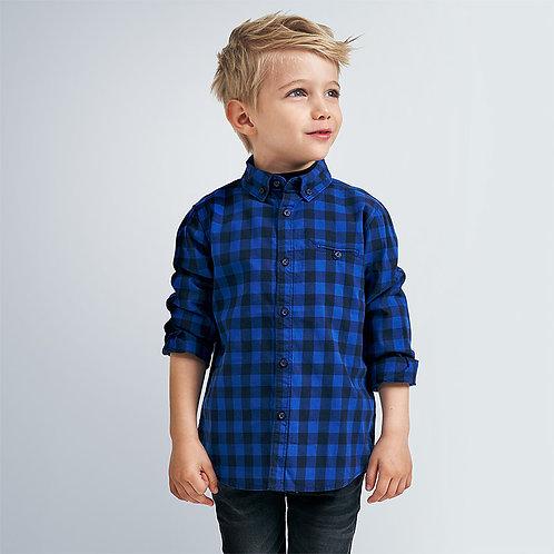 Mayoral Boys Long sleeved gingham shirt for boy