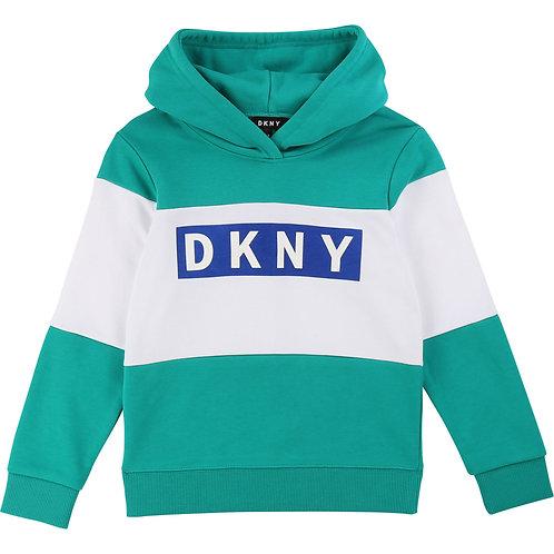 DKNY Hooded fleece sweatshirt