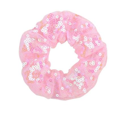 Pink Coloured Girls Sequin Scrunchie