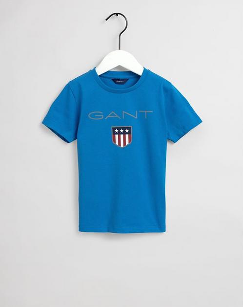 GANT Kids Shield T-Shirt-Clear Blue